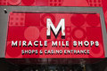 The miracle mile shops sign in las vegas nv on may is a sq ft long enclosed shopping mall with more than stores Royalty Free Stock Photography