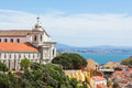 Miradouro da graca from senhora do monte viewpoint miradouro i in lisbon portugal Stock Photos
