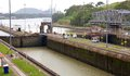 Miraflores locks the is one of three that form part of the panama canal the panama canal was built in and celebrates its th Stock Photo