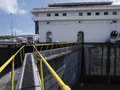 Miraflores Locks at Panama Canal Royalty Free Stock Photo