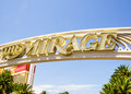 The mirage hotel and casino entrance sign to las vegas nevada Royalty Free Stock Image