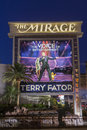 The Mirage Hotel Sign in Las Vegas, NV on June 05, 2013 Royalty Free Stock Photo