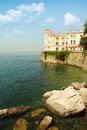 Miramare triest castle in bay italy today it is a museum Royalty Free Stock Photo