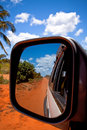 Miroir sur la route Photo stock