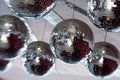 Mirror balls disco many hanging Royalty Free Stock Images