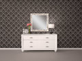 Mirror and chest of drawers in a modern style Royalty Free Stock Photo
