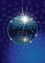 Mirror disco ball vector illustration Stock Photos
