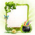 Mirror frame for St. Patrick's Day Stock Images