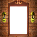 Mirror frame on the wall Stock Photography