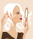 Mirror girl Royalty Free Stock Photography