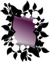Mirror image representing a decorated with white roses and leaves Royalty Free Stock Photography