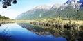 Mirror Lake Fiordland Royalty Free Stock Photo