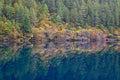 Mirror lake, Jiuzhaigou Royalty Free Stock Photo