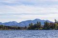 Mirror lake in lake placid new york beautiful Stock Photos
