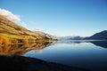 Mirror lake in New zealand Royalty Free Stock Photo
