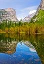Mirror Lake in Yosemite Royalty Free Stock Photo