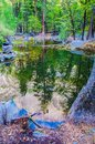 Mirror lake yosemite in national park california this short hike is easy for anyone and is frequently visited my s bear Royalty Free Stock Photography