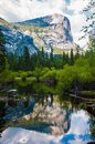 Mirror lake yosemite in national park california this short hike is easy for anyone and is frequently visited my s bear Stock Photo