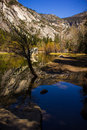 Mirror Lake in Yosemite Valley, USA Royalty Free Stock Photo