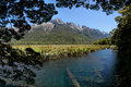 Mirror Lakes at the Milford Road Stock Photography