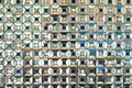 Mirror mosaic tiles, abstract square pixel background Royalty Free Stock Photo