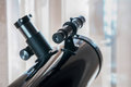 Mirror telescope ocular closeup Royalty Free Stock Photo