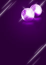 Mirrorball disco background abstract poster with space Stock Images