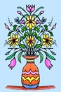 Mirrored flowers and vase