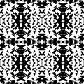 Mirrored geometric pattern. Repeatable monochrome abstract backg