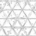 Mirrored grid, mesh abstract geometric pattern
