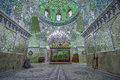 Mirrored interior of ali ibn hamza shrine in shiraz iran beautiful Royalty Free Stock Photography