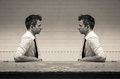 Mirroring in communication Royalty Free Stock Photo