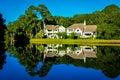 Mirroring lake beautiful nature of the sea pines resort hilton head island sc Stock Photo
