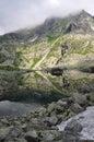 Mirroring lake in Vysoke Tatry, Slovensko High Tatras, Slovakia