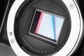 Mirrorless camera sensor Royalty Free Stock Photo