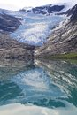 Mirrors of ice svartisen glacier the lowest glacier europe Royalty Free Stock Image