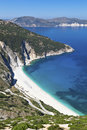 Mirtos beach at Kefalonia island Royalty Free Stock Photos