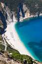 Mirtos beach at Kefalonia island Royalty Free Stock Image