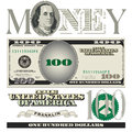 Title: Miscellaneous 100 dollar bill elements