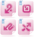 Miscellaneous Flamingo Icons Stock Photo