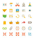 Miscellaneous flat icons a set of Stock Image
