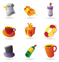 Miscellaneous icons Stock Photo