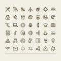 Miscellaneous icons collection set a vector Stock Photos