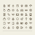 Miscellaneous icons set a vector Royalty Free Stock Photo