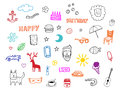 Miscellaneous set objects background vector Royalty Free Stock Photo