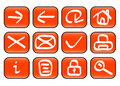 Miscellaneous web icons Royalty Free Stock Image