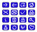 Miscellaneous web icons Stock Photo