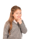 Mischievous little girl Royalty Free Stock Photo