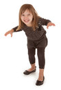 Mischievous little girl planning to scare someone a funny and year old is Royalty Free Stock Photo