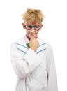 Mischievous teenager with round glasses Stock Photo
